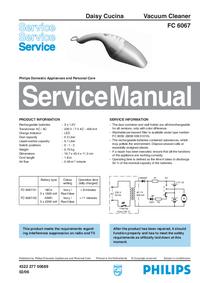 manuel de réparation Philips FC 6067