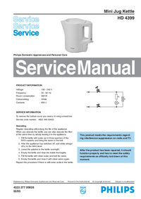 Servicehandboek Philips HD 4399