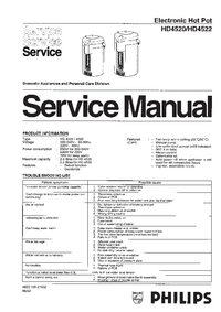Servicehandboek Philips HD4522