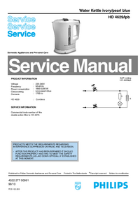Manual de servicio Philips HD 4629/Ipb