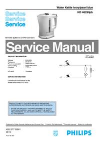 Manual de serviço Philips HD 4629/Ipb
