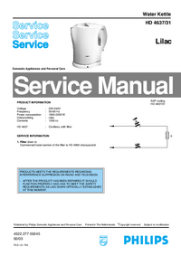 Manual de servicio Philips HD 4637