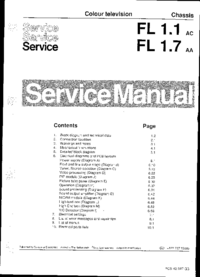 Manual de servicio Philips Chassis FL1.7