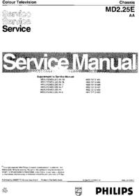 Service Manual Philips Chassis MD2.25E