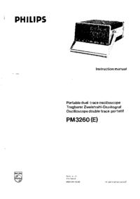 Servicio y Manual del usuario Philips PM 3260