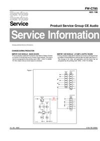 Supplément manuel de réparation Philips FW-C785