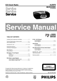 Manual de servicio Philips MCR220BK
