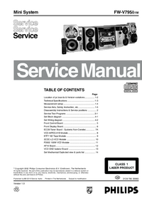 Manual de servicio Philips FW-V795