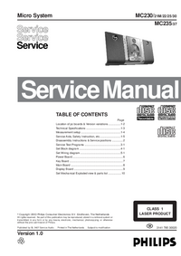 Servicehandboek Philips MC235
