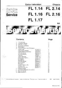 Manual de servicio Philips Chassis FL 1.14