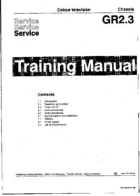 Servicehandboek Philips Chassis GR2.3
