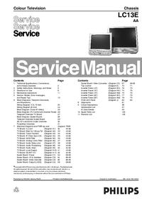 Manual de servicio Philips Chassis LC13E