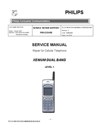Service Manual Philips XENIUM DUAL BAND