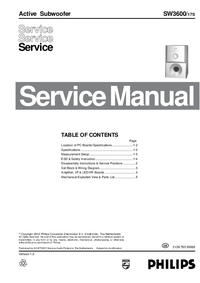 Service Manual Philips SW3600