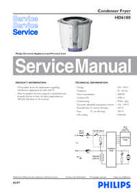 Servicehandboek Philips HD6180