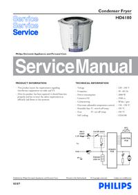 Manual de serviço Philips HD6180