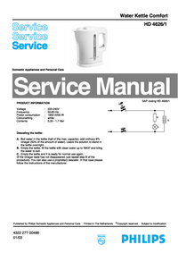 Servicehandboek Philips HD 4626/1