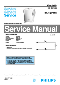 Servicehandboek Philips HD 4632