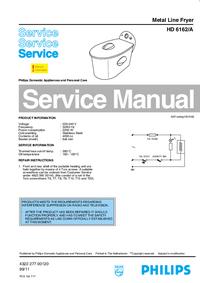 Manual de servicio Philips HD 6162/A