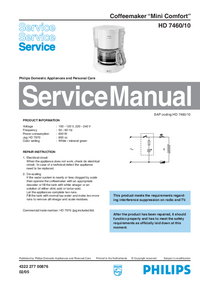 Manual de servicio Philips Mini Comfort HD 7460/10