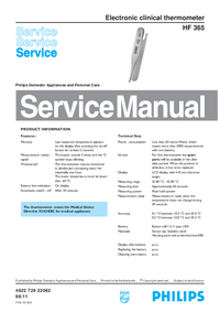 Service Manual Philips HF 365