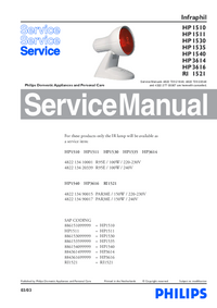 Service Manual Philips Infraphil HP 1540