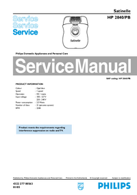 Manual de servicio Philips Satinelle HP 2840/PB