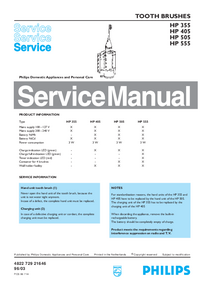 Manual de servicio Philips HP 555