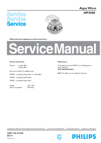 Service Manual Philips Aqua Wave HP4500