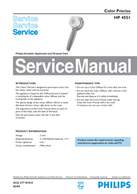 Servicehandboek Philips Color Precise HP 4551