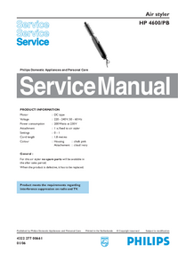 Service Manual Philips Air styler HP 4600/PB