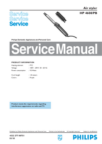 Service Manual Philips Air styler HP 4608/PB