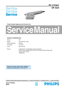 Manual de servicio Philips HP 4644