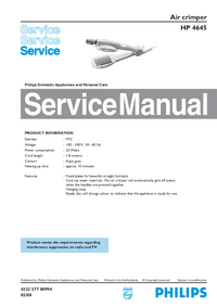 Service Manual Philips HP 4645