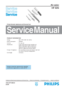 Manual de servicio Philips HP 4696