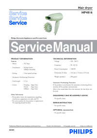 Service Manual Philips HP4816