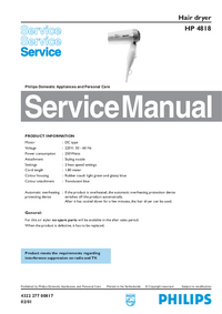 Manual de servicio Philips HP 4818