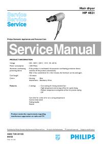 Manuale di servizio Philips HP 4821