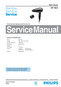 Service Manual Philips HP 4842