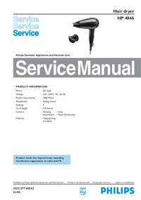 Manual de servicio Philips HP 4846