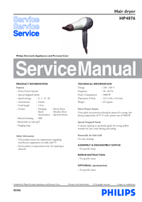 Manual de servicio Philips HP4876