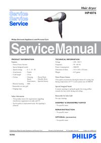 Instrukcja serwisowa Philips HP4876