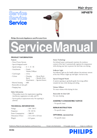 Manual de servicio Philips HP4879