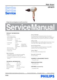 Manuale di servizio Philips HP4879