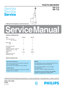 Manual de servicio Philips HP 710