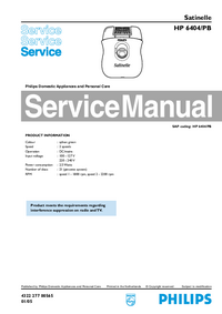 Service Manual Philips HP 6404/PB