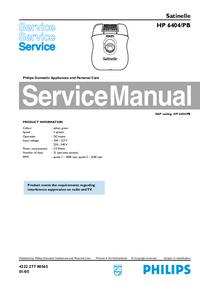 Manuale di servizio Philips HP 6404/PB