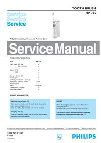 Instrukcja serwisowa Philips HP 735