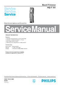 Manual de servicio Philips HQ-T 301