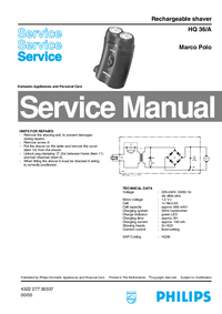 Manual de servicio Philips HQ 36/A Marco Polo
